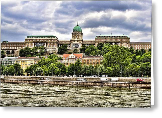 Buda Greeting Cards - Buda Castle - Budapest Hungary Greeting Card by Jon Berghoff