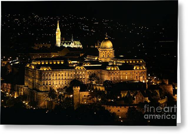 City Scapes Greeting Cards Greeting Cards - Buda Castle Greeting Card by Mariola Bitner