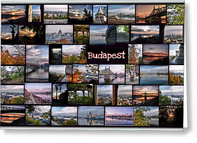 Budapest in October Greeting Card by Janos Kovac