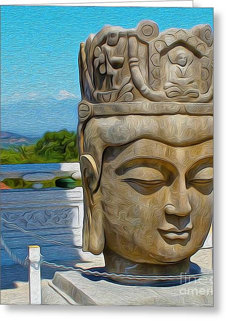 Gregory Dyer Greeting Cards - Buddha - 01 Greeting Card by Gregory Dyer