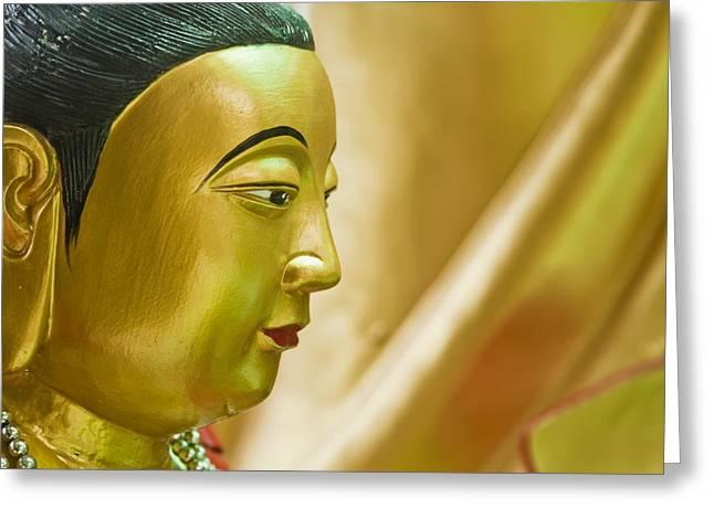 Sacred Spirit Art Photographs Greeting Cards - Buddha at Phitsanulok Greeting Card by Bill Brennan - Printscapes