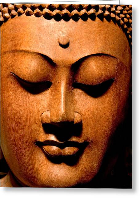Buddha Photographs Greeting Cards - Buddha Calm Greeting Card by Carol Leigh