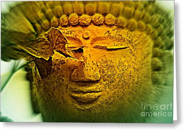 Statue Portrait Photographs Greeting Cards - Buddha in Deep Meditation Greeting Card by Susanne Van Hulst