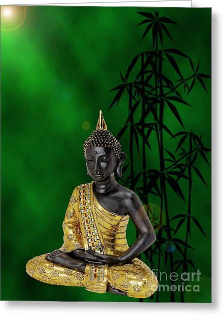 Relaxen Greeting Cards - Buddha of knowledge Greeting Card by Sandra Beikirch