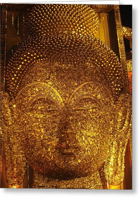 Prasenjit Dhar Mixed Media Greeting Cards - Buddha  Greeting Card by Prasenjit Dhar