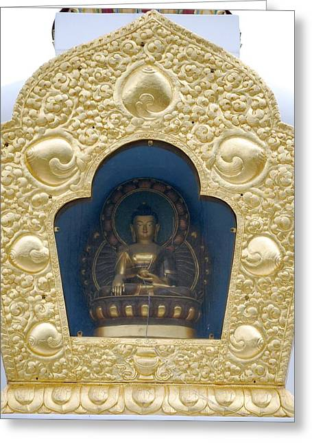 Religious Greeting Cards - Buddha Statue 1 Greeting Card by Joseph R Luciano