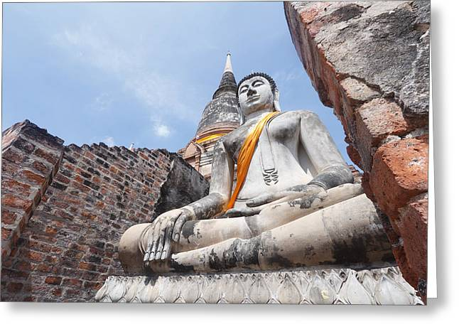 buddha statue in Thailand  Greeting Card by Thanawat  Wongsuwannathorn
