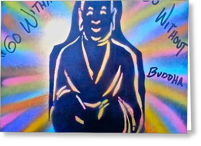 Free Speech Greeting Cards - Buddha Greeting Card by Tony B Conscious