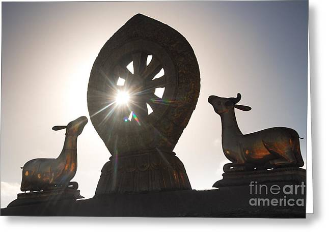 Buddhism Wheel Greeting Card by Marko Moudrak