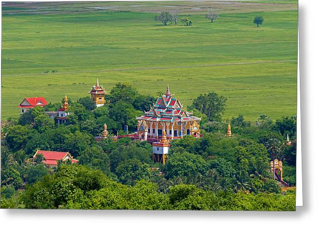 Buddist Temple Greeting Card by David Freuthal
