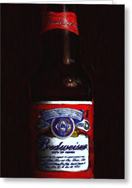 Wide Size Greeting Cards - Budweiser - King of Beers Greeting Card by Wingsdomain Art and Photography