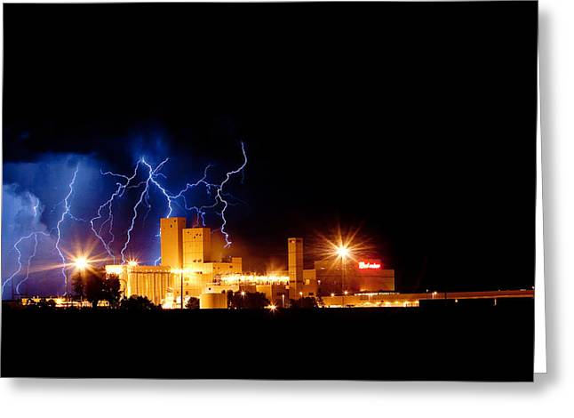 The Lightning Man Greeting Cards - Budweiser Lightning Thunderstorm Moving Out Greeting Card by James BO  Insogna