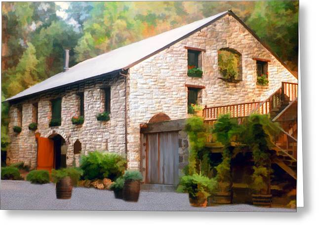 Napa Valley Digital Greeting Cards - Buenavista Winery Greeting Card by Kurt Van Wagner
