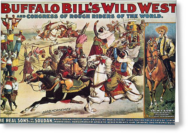 The American Buffalo Greeting Cards - Buffalo Bill: Poster, 1899 Greeting Card by Granger