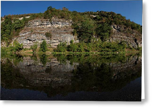 Arkansas Greeting Cards - Buffalo River Bend Panorama Greeting Card by Joshua House