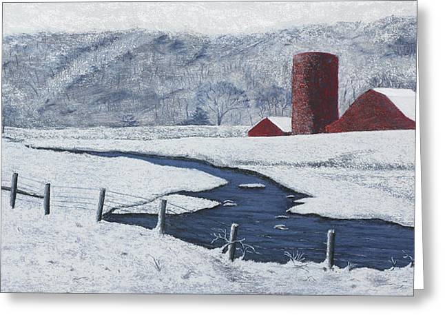 Buffalo River Pastels Greeting Cards - Buffalo River Valley in Snow Greeting Card by Garry McMichael
