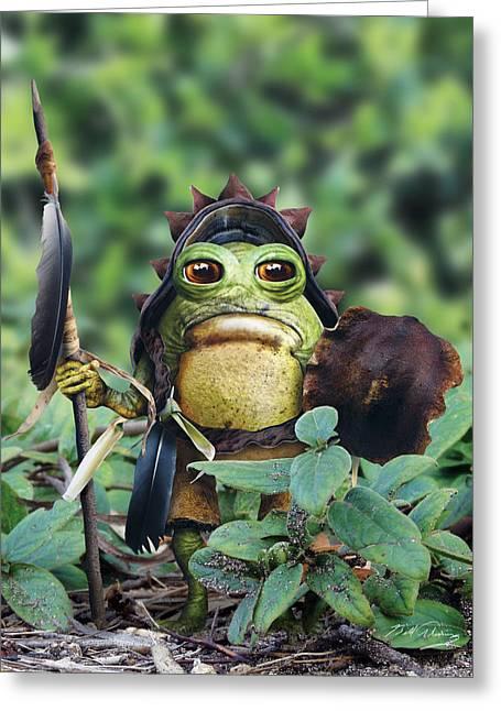 Goblin Digital Art Greeting Cards - Bufo Warrior Goblin Greeting Card by Bill Fleming