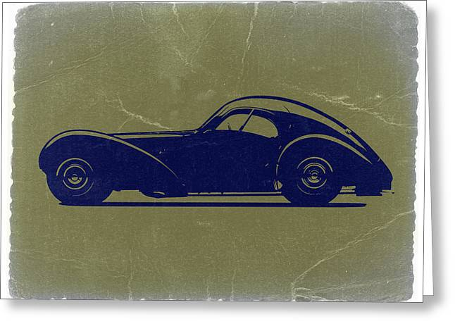 Bugatti Greeting Cards - Bugatti 57 S Atlantic Greeting Card by Naxart Studio