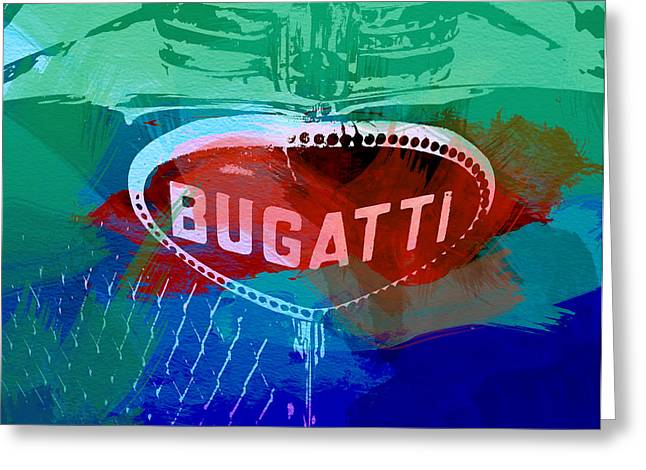 Cylinder Greeting Cards - Bugatti Badge Greeting Card by Naxart Studio