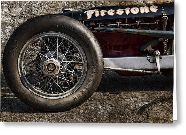 Indy Car Greeting Cards - Buick Shafer 8 Greeting Card by Peter Chilelli