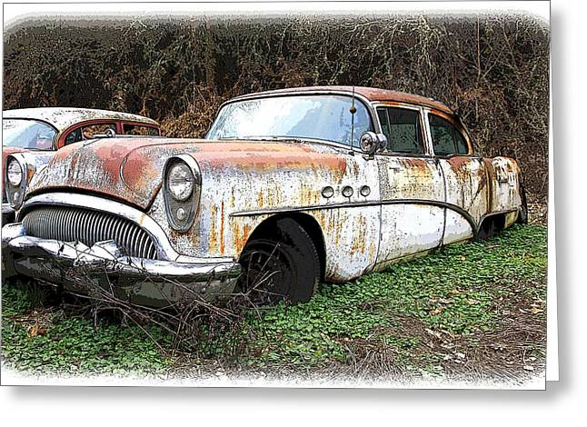 Buick Yard Greeting Card by Steve McKinzie