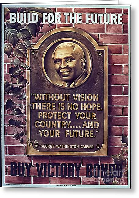 George Washington Carver Greeting Cards - Build For The Future Greeting Card by Christopher Purcell