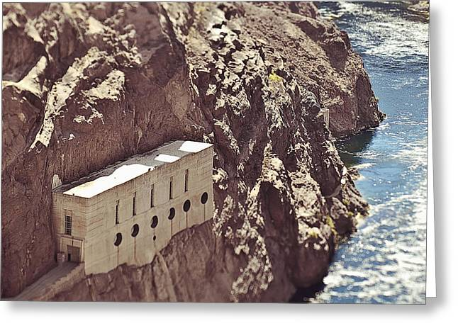 Building Built Into River Valley Cliff Greeting Card by Eddy Joaquim