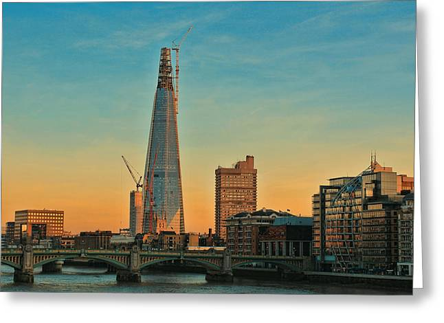 Shards Greeting Cards - Building Shard Greeting Card by Jasna Buncic
