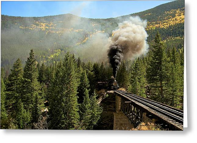 Oil Burner Greeting Cards - Building Up Steam Greeting Card by Stephen  Johnson