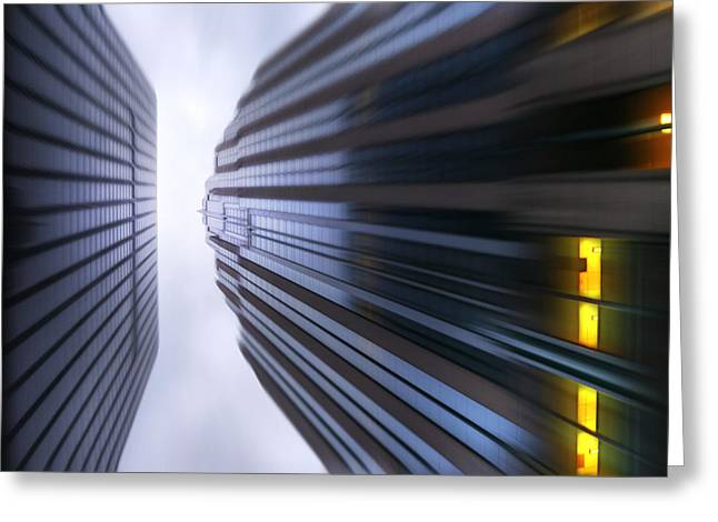 Busy Life Greeting Cards - Buildings Abstract Greeting Card by Svetlana Sewell