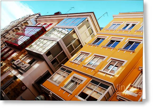 Galicia Greeting Cards - Buildings - La Coruna Spain Greeting Card by Mary Machare