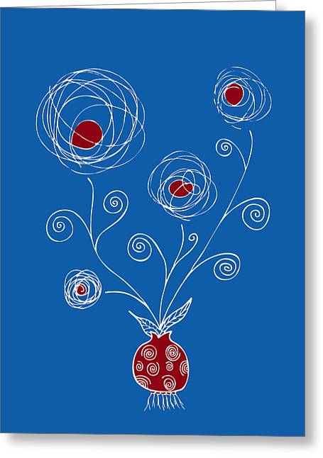Swirly Greeting Cards - Bulb Flower Greeting Card by Frank Tschakert