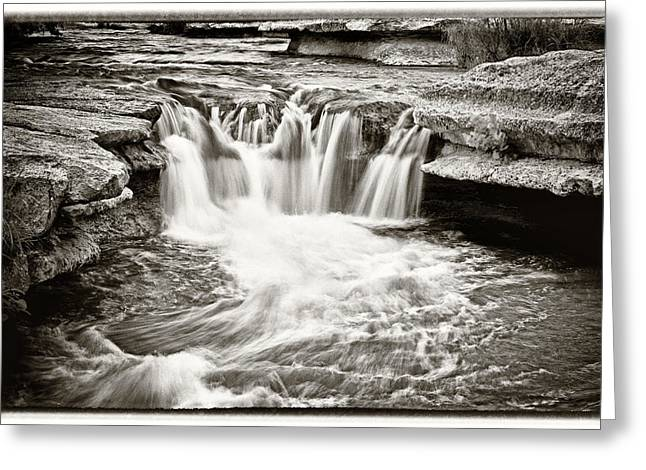 Capitol Of Texas Highway Creek Greeting Cards - Bull Creek Water Run Greeting Card by Lisa  Spencer