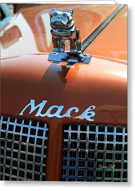 Truck Detail Greeting Cards - Bull Dog Hood Ornament Greeting Card by Suzanne Gaff