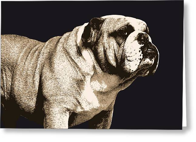 Canine Greeting Cards - Bulldog Spirit Greeting Card by Michael Tompsett