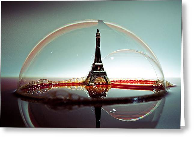 Eifel-tower Greeting Cards - Bulle Greeting Card by Ivan Vukelic