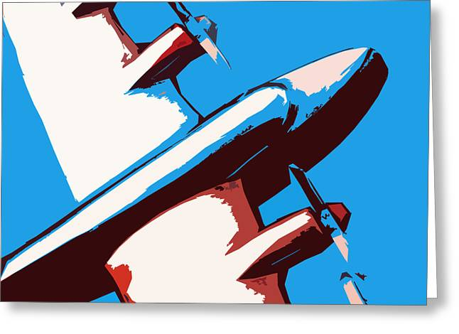 Jet Mixed Media Greeting Cards - Bullet Plane Greeting Card by Slade Roberts