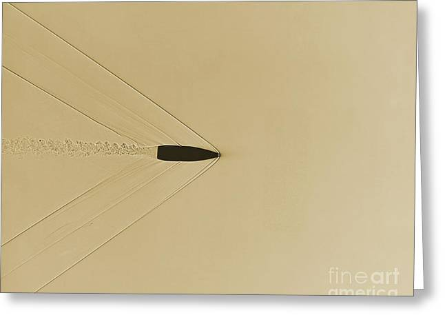 Bullet Through Air Greeting Card by Omikron