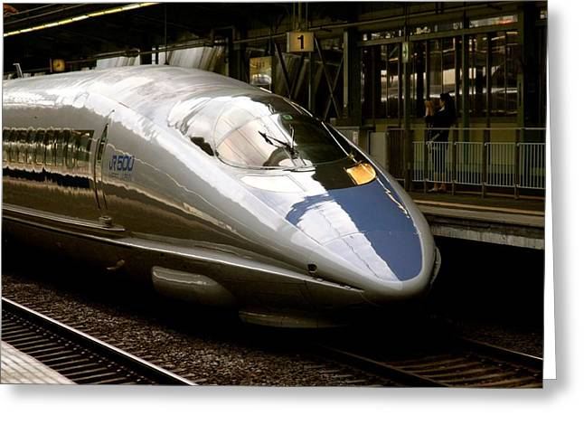 Bullet Train Greeting Card by Jerry Patterson