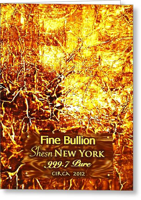 Bullion Greeting Card by L Lee