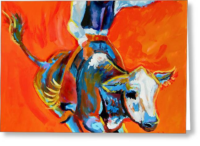 Bullrider Greeting Card by Jenn Cunningham