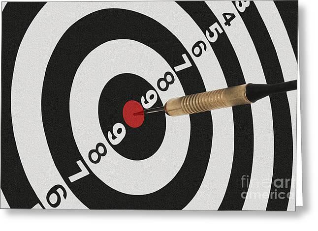 Bullseye Greeting Cards - Bullseye Greeting Card by Dan Holm