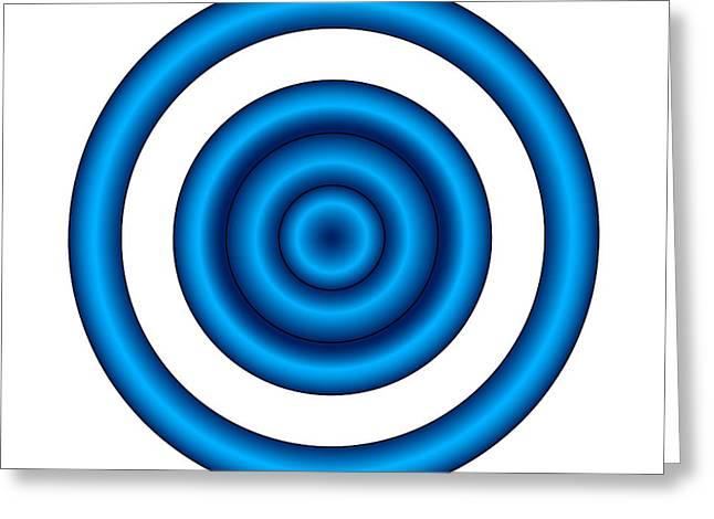 Bullseye Greeting Cards - Bullseye Illusion Greeting Card by