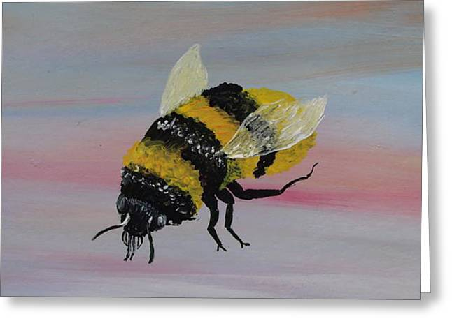 Happy Sculptures Greeting Cards - Bumble Bee Greeting Card by Mark Moore