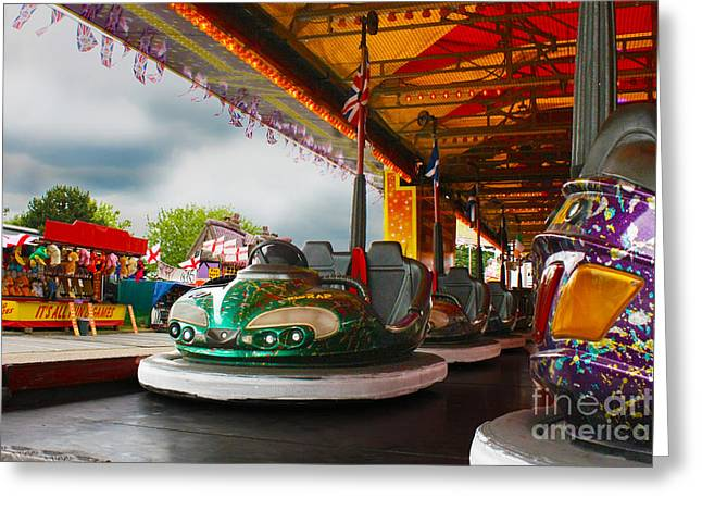 Bumper Cars Greeting Card by Terri Waters