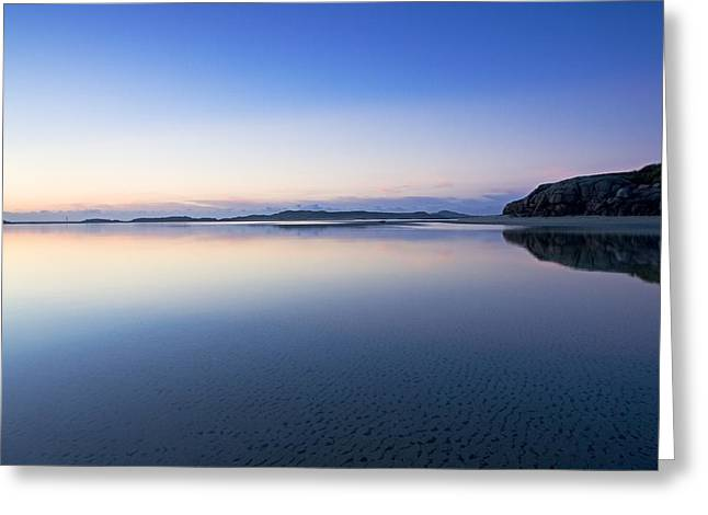 Reflections Of Sky In Water Greeting Cards - Bunbeg, County Donegal, Ireland Sunset Greeting Card by Peter McCabe