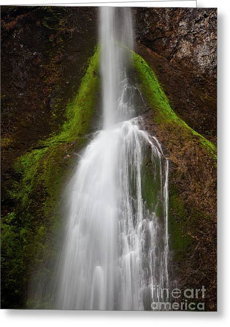 Natural Resources Greeting Cards - Bunch Falls  Greeting Card by Keith Kapple
