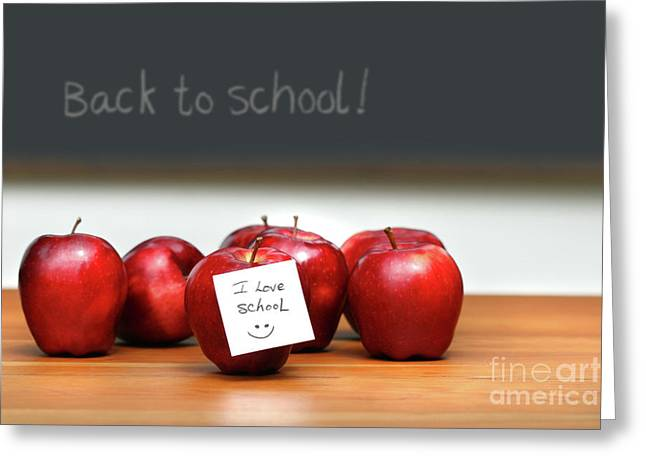 Educate Greeting Cards - Bunch of red apples Greeting Card by Sandra Cunningham