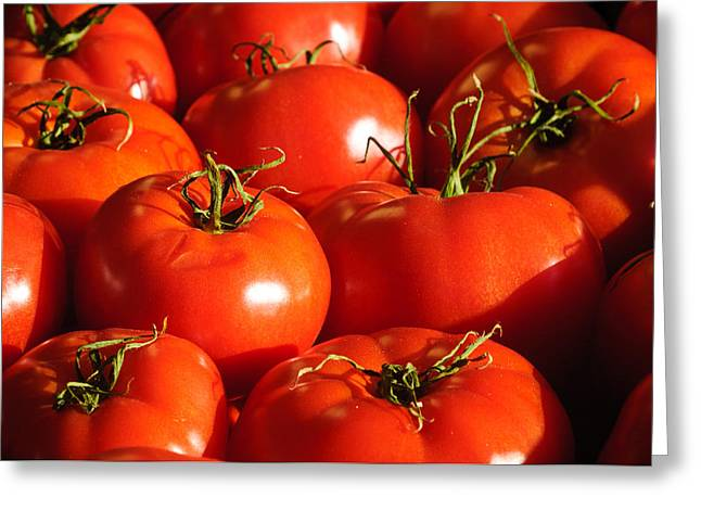 Reflection Harvest Greeting Cards - Bunch of Tomatoes Greeting Card by Connie Cooper-Edwards