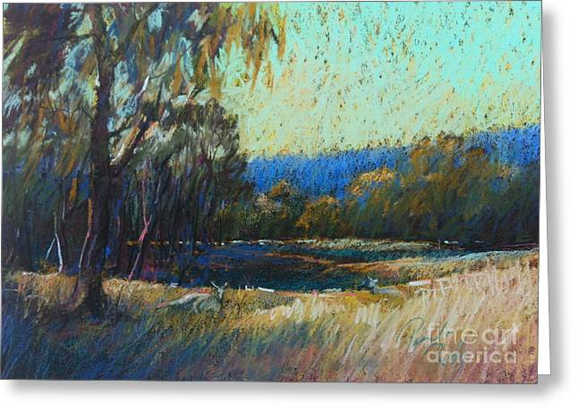 Outback Pastels Greeting Cards - Bundoora Locals Greeting Card by Pamela Pretty
